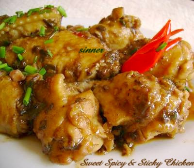Sweet n Spicy Sticky Chicken