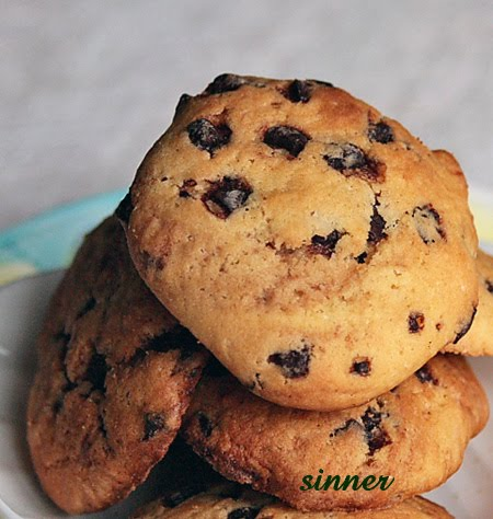 marbled choc chip cookies