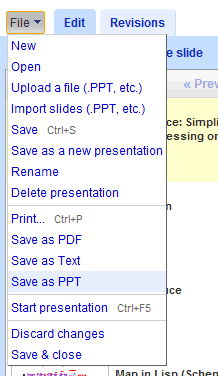 Export Google Presentations To PowerPoint - Google presentation format