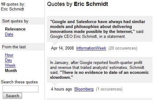 Google News Quote Finder