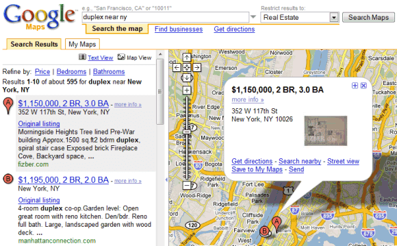 google real estate  listings