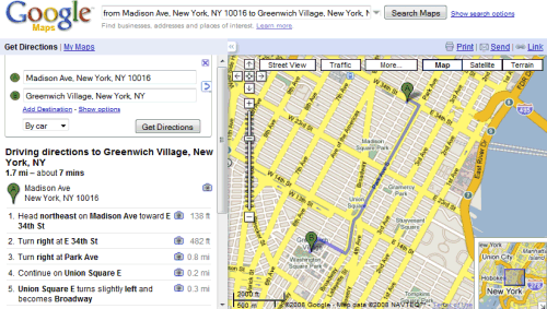 More Options for Printing Directions in Google Maps – Maps Directions Mileage