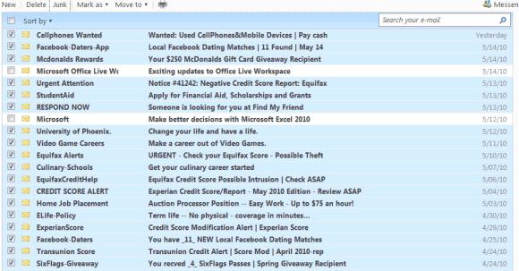 yahoo mail spam blocker