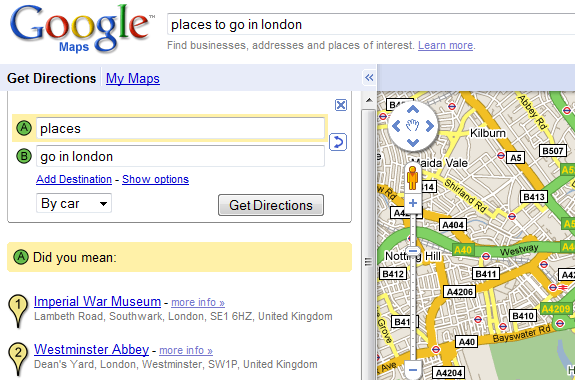 how to find altudie in google maps