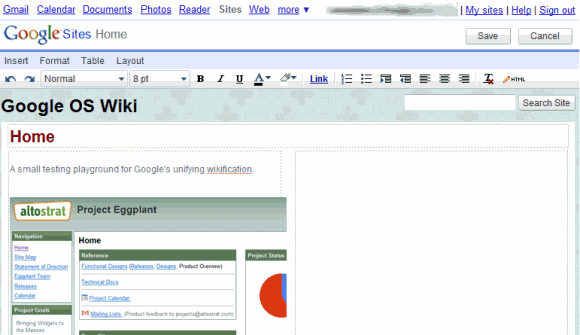 project refresh google sites