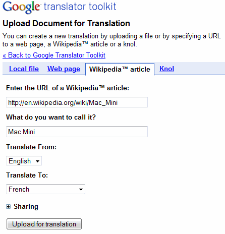google translater. Google Translator Toolkit