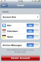 Google Mail auf dem iPhone: Notizen, Kalender und Mails syncen