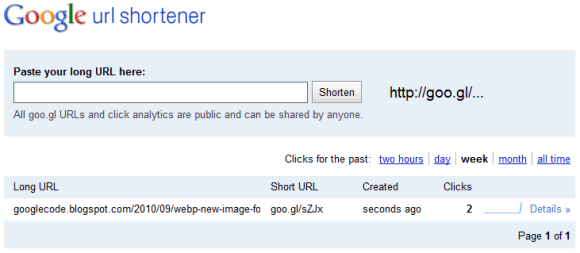 Google URL Shortener Adds Stats and Web Interface