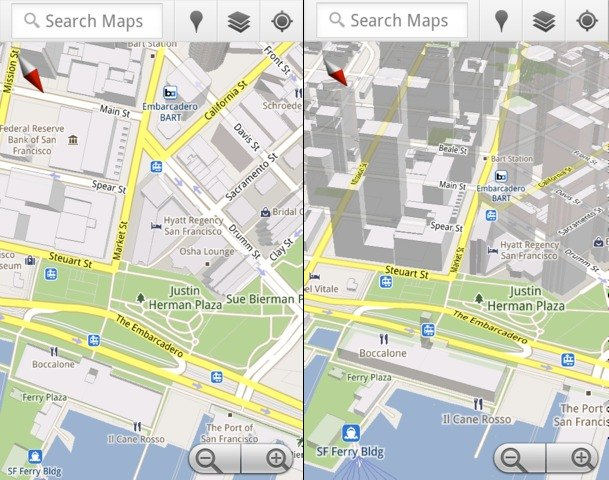 google maps 5 for android 3d maps and offline caching. Black Bedroom Furniture Sets. Home Design Ideas