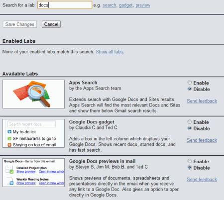 gmail  blog search