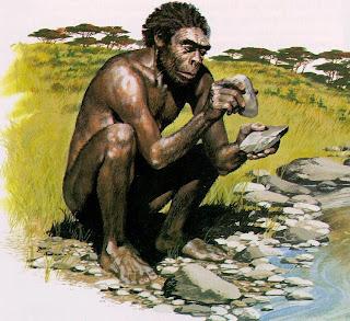 Una raffigurazione di Homo habilis