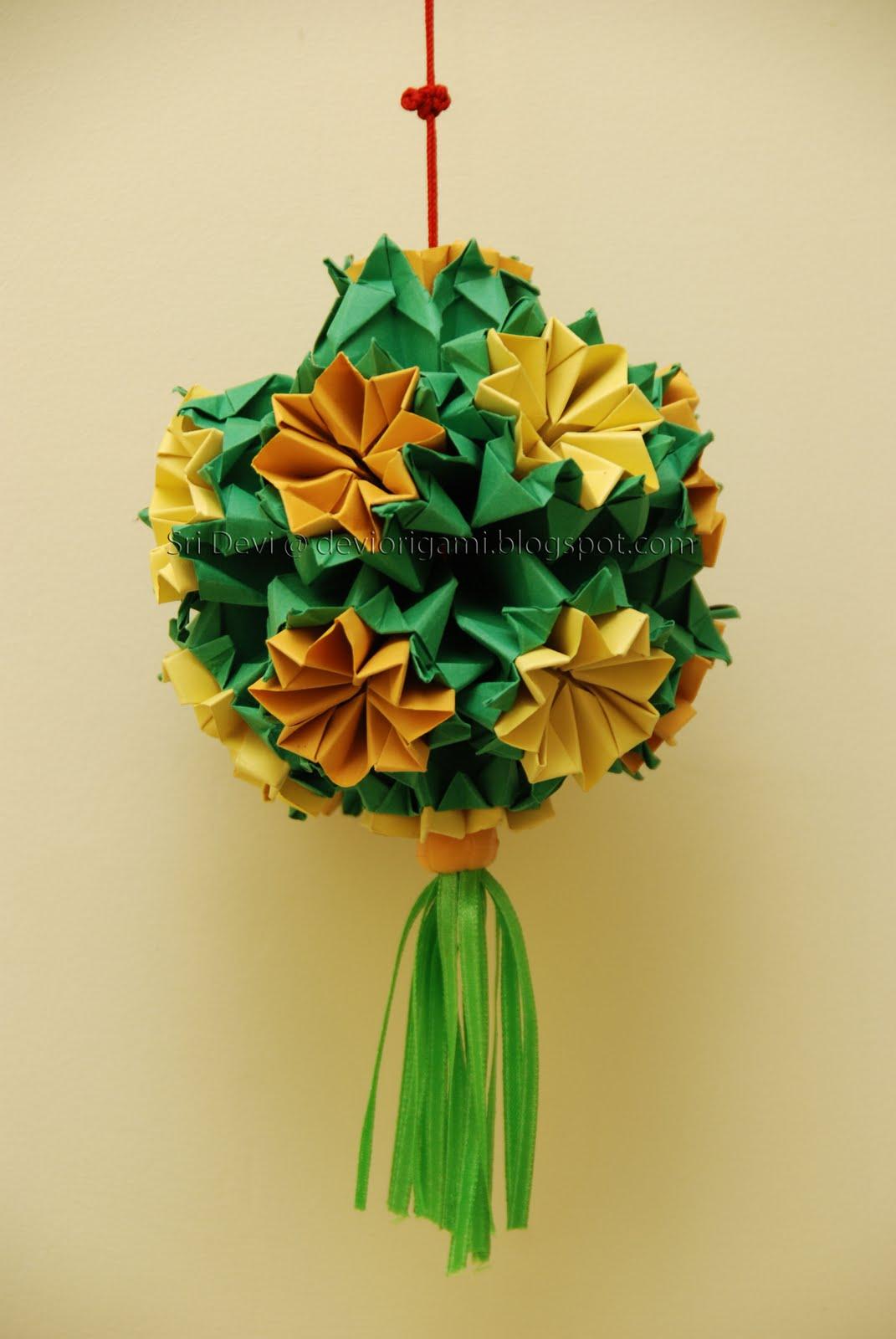 Busy Hands & Nimble Fingers: kusudama -- Bouquet of Primula - photo#9