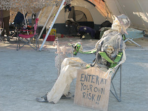 Bucky Relaxing at Burning Man