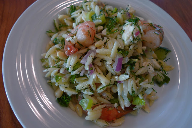 Two Blue Lemons It 39 S A Party Roasted Shrimp Orzo Salad