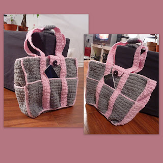sac-poches-crochet-gris-rose