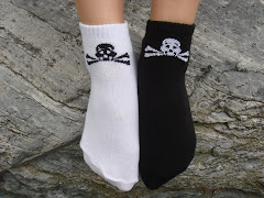 """Pirate"" Skull & Crossbones Ankle Socks (in black or white)"