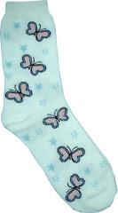 Butterfly Crew Socks