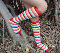 Rainbow Stripe Knee-Socks