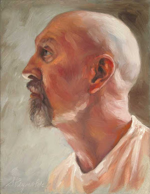 portrait oil on canvas profile