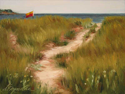 Dunes at Bayswater Beach oil on canvas