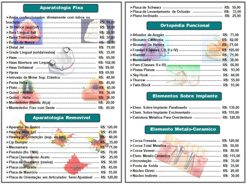 Tabela de Preços pág: 02