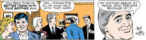 Mary, stop shouting. It's still a funeral.