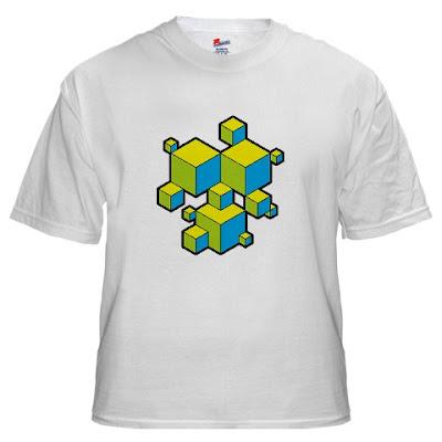 groovy cubes t shirt