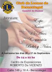 EXPO-NOVIAS 26 Y 27 DE SEPTIEMBRE DE 14 A 22HS.