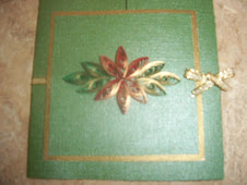 Green & Gold Poinsettia Card