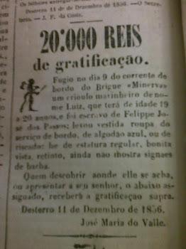 Anúncio de Fuga de Escravo