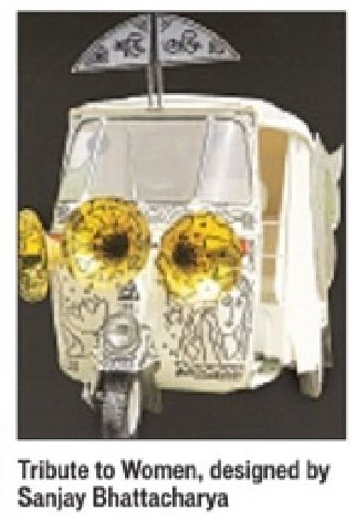 Sanjay Bhattacharya painted auto tribute to women