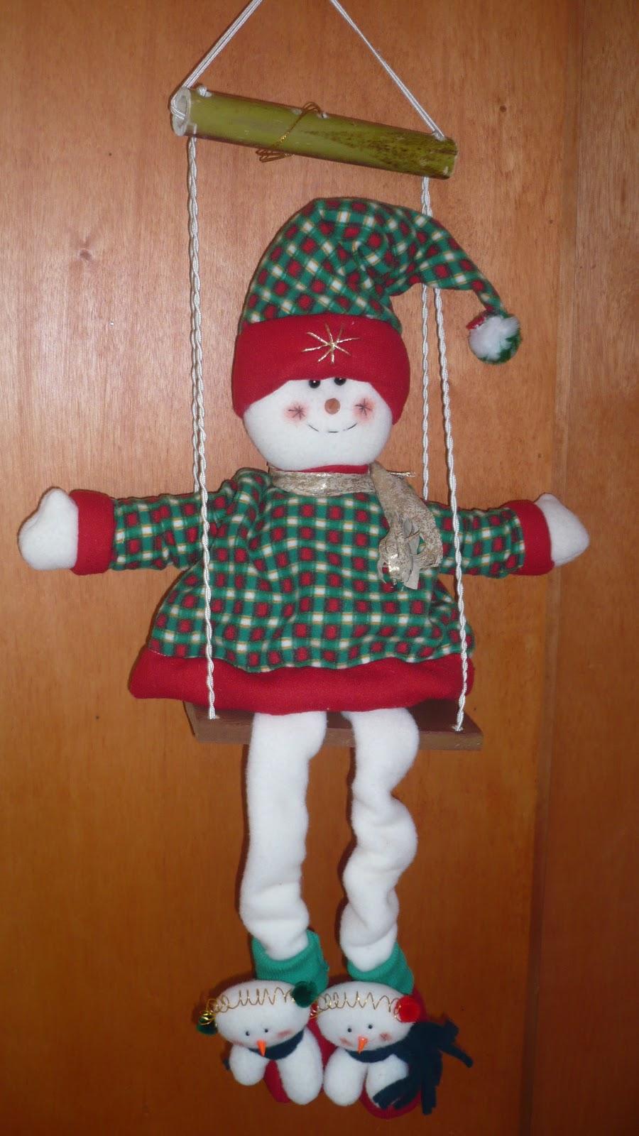 Adornos de navidad columpio nieve en madera - Adornos navidenos de madera ...