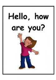 En nuestra clases de inglés de infant ya sabemos saludar responder