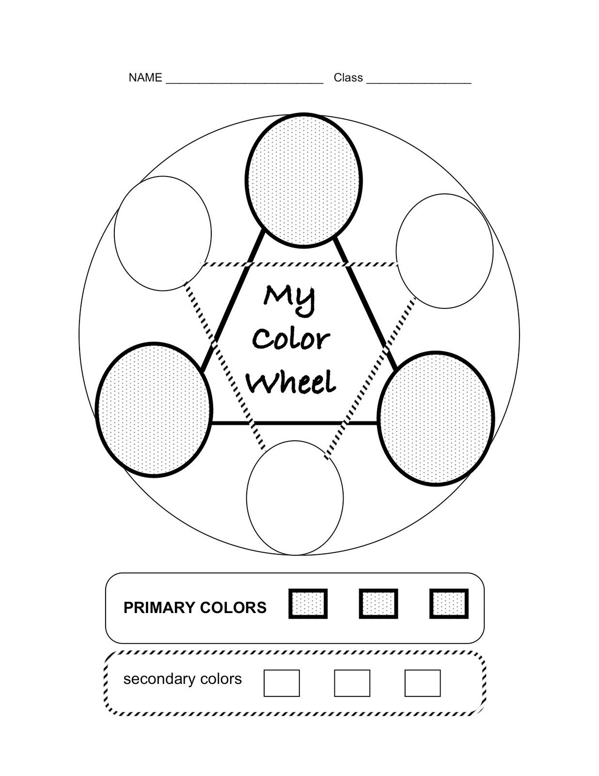 Color wheel worksheets for elementary - Color Wheels