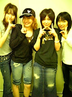 Ami, Kaorin, Kitamura Eri, Pe (l-r, from Ami's blog)