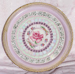 Shabby rose tray