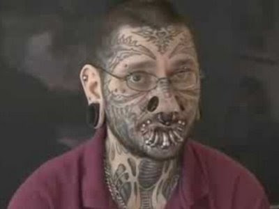 face tattoos. Skeleton Face Tattoo