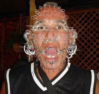 Extreme Face Piercing