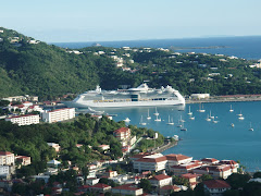 Cruise ship in Charlotte Amalie