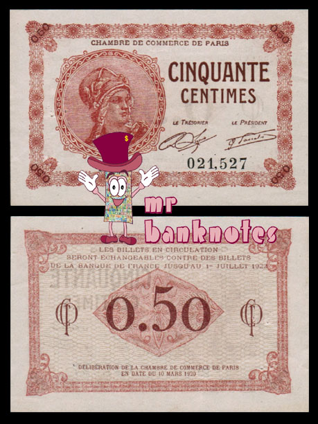 World banknotes francs chambre de commerce for Chambre commerce france