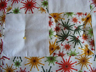 baste a quilt for free motion quilting