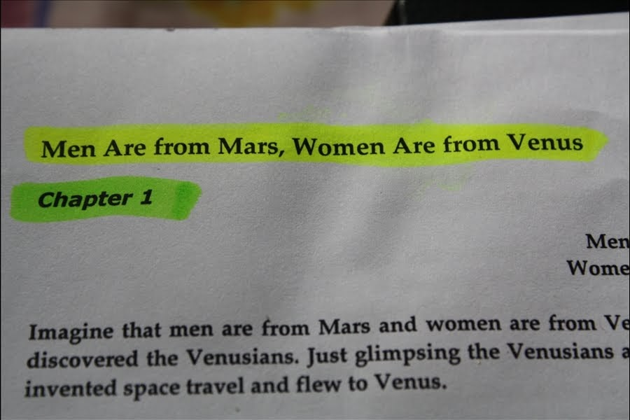 men are rom mars women are Buy men are from mars, women are from venus: a practical guide for improving communication and getting what you want in your relationships: how to get what you want in your relationships 25th anniversary edition by john gray (isbn: 9780007152599) from amazon's book store.