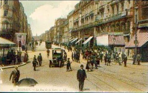 La rue de la gare en 1911