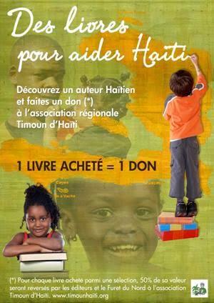 Des livres pour aider Haïti. Devant la réussite l'opération est prolongée