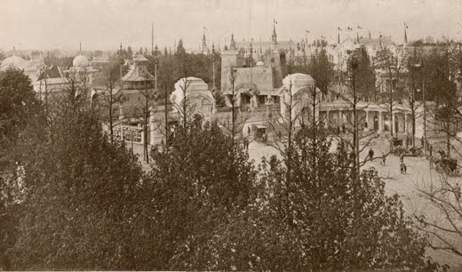 Vue de l'entrée de l'Exposition
