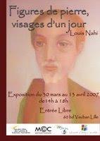 Figures de pierre ... visages d'un jour - Exposition 2007