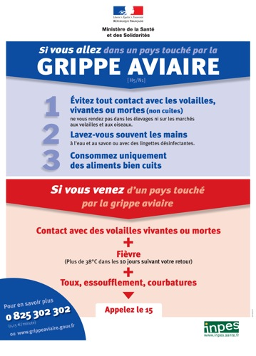 Grippe aviaire et voyage arien
