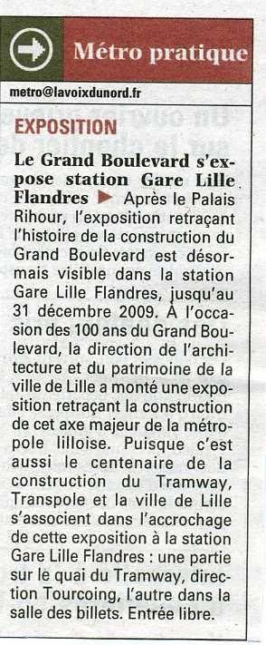 Une exposition à la gare Lille Flandres