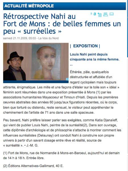 Rétrospective Nahi au Fort de Mons