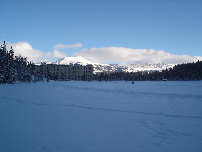 A frozen Lake Louise